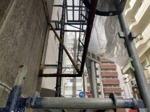 大阪市 ビル 外壁補修 外壁塗装 テント貼替え ピンネット工法 工事 DAITAKU ダイタク
