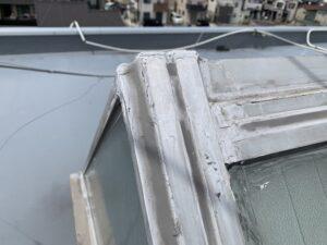 東大阪市 事務所 屋上天窓 レンガタイル サッシ廻り 漏水改善 雨漏り シーリング工事 ダイタク DAITAKU