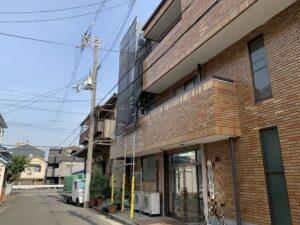 東大阪市 事務所 レンガタイル サッシ廻り 漏水改善 雨漏り シーリング工事 ダイタク DAITAKU