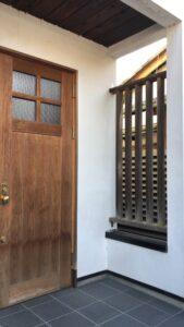 奈良市 戸建て 玄関ドア 木製ドア 塗装工事 DAITAKU ダイタク