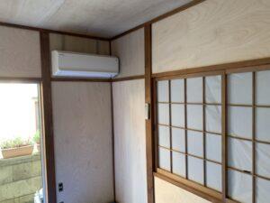 東大阪市 戸建て 内装工事 和室 壁 天井 べニア張り工事 ダイタク DAITAKU