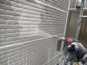 東大阪市 戸建て 外壁塗装工事 高圧水洗浄 ダイタク DAITAKU