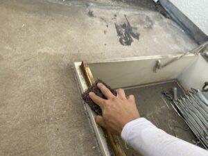 東大阪市 マンション バルコニー防水工事 避難ハッチ 塗装工事 ダイタク DAITAKU